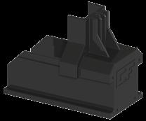 Esdec ClickFit EVO - Montagerail eindkap Zwart