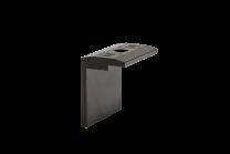 Esdec FlatFix Eindklem 35mm Zwart