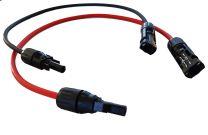 Conduct 1 mtr Solar aansluitkabel M+F MC4-MC4 Zwart 4mm2