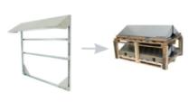 Conduct PVshelter Wall Inverted Frame NA