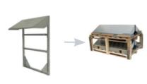Conduct PVshelter SingleShelter Wall Inverted Frame NA