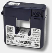 SolarEdge 250A Split-core stroom transformator voor 50Hz