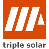 Triple Solar Platdak frames, eerste paneel per rij OOST/WEST