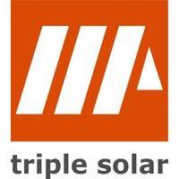Triple Solar Platdak frames, eerste paneel per rij ZUID